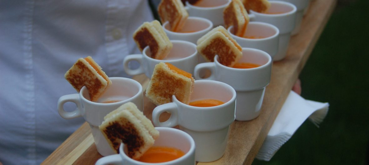 Grilled Cheese & Tomato Bisque Shooters
