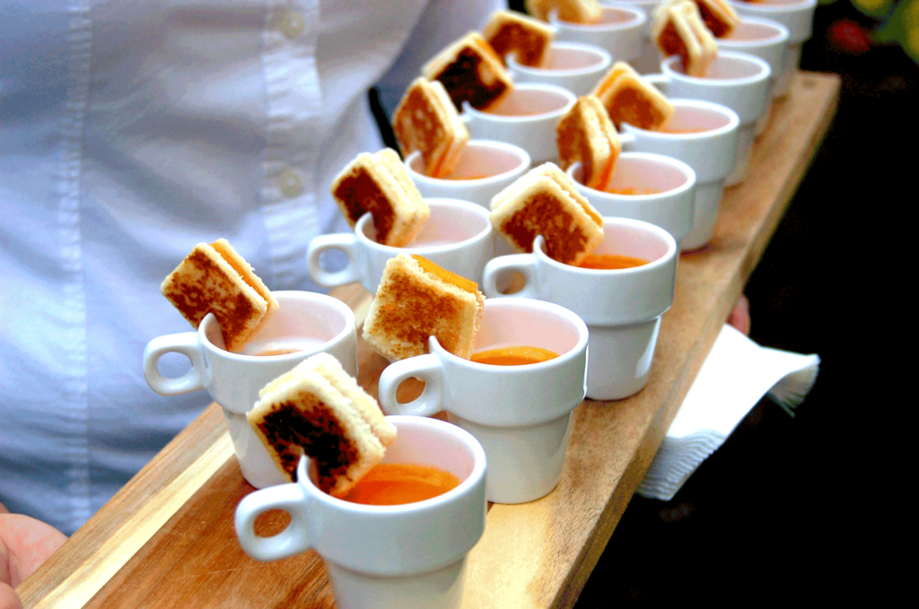 Grilled Cheese Tomato Bisque Shooters